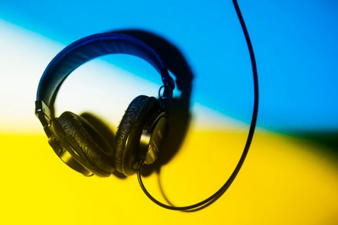 Stock photo of headphones. Photo by Adam Glanzman/Northeastern University