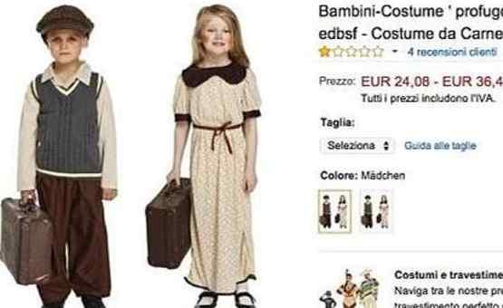 Costumi di carnevale per bambini  polemica su Amazon per il piccolo profugo 388c4ce1146