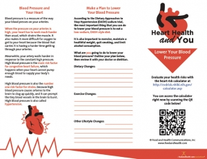 Lower Your Blood Pressure Brochure