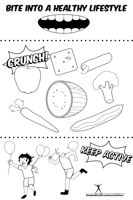 Reader Request: Nutrition Month Coloring Pages