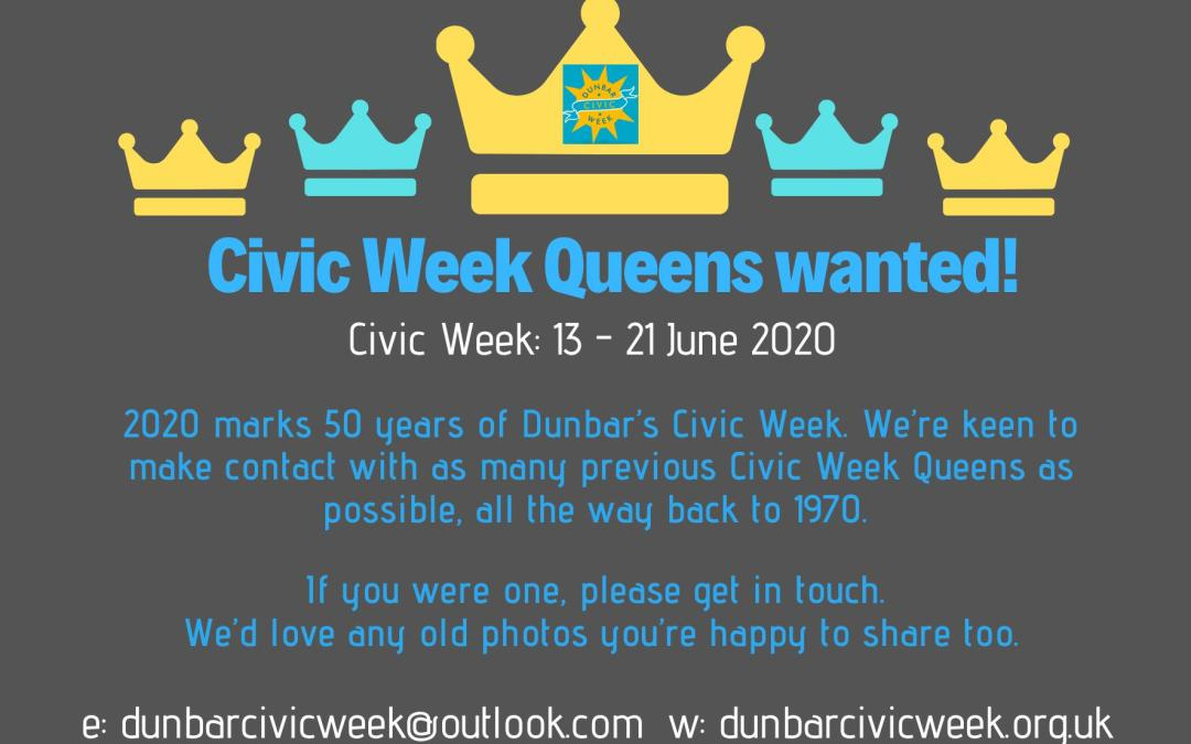 Appeal for past Dunbar Civic Week Queens