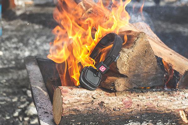 wireless headphones on fire
