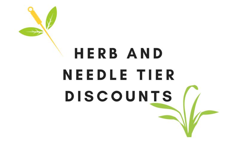 Tier Discounts | Bulk Buy Needles and Herbs | Phoenix