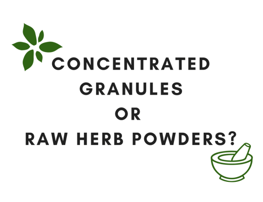 Raw herb powders