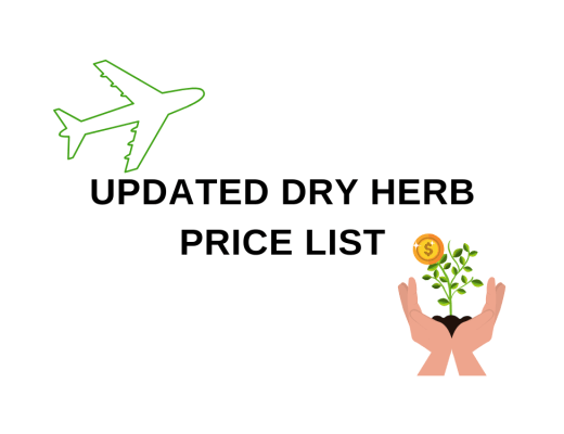 Dry Herb Price List