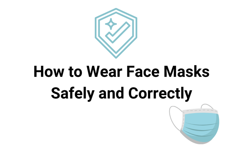 How to wear face masks correcctly