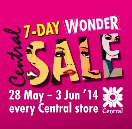 โปรโมชั่น เซ็นทรัล 7-Day Wonder Sale ลดสูงสุด 30%