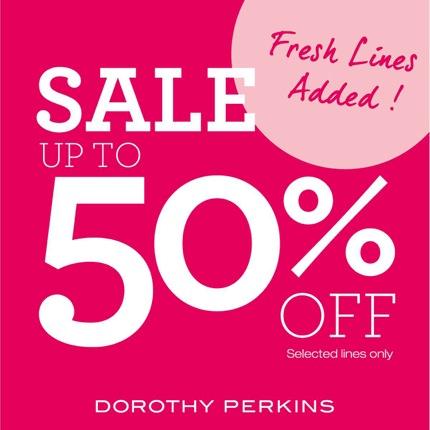 โปรโมชั่น Dorothy Perkins Sale 2014 ลดสูงสุด 50% off (มิย.57)