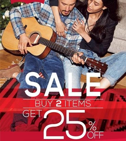 โปรโมชั่น Levi's ซื้อ 2 ชิ้น ลด 25% (23 ม.ค.- 15 ก.พ.58)