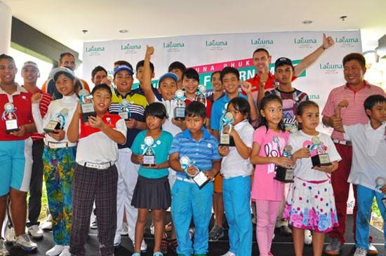 แชมป์รายการรวม และรายการย่อยของลากูน่า ภูเก็ต จูเนียร์ กอล์ฟ ทัวร์นาเมนต์ ครั้งที่ 1