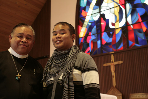 Rev. Bayani Rico with his son Andrew