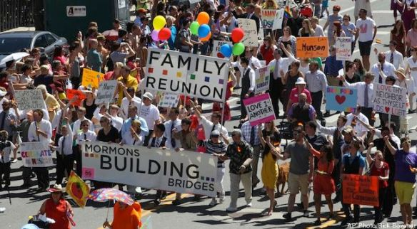 Pride Parade Mormons
