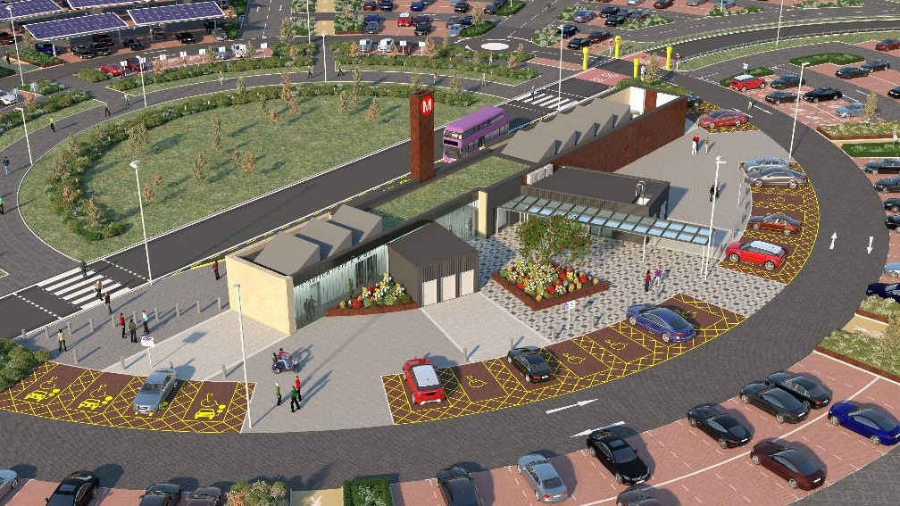 New animation shows how Leeds' new £38.5million park and ride will look once complete.