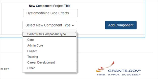 Figure 5: Adding a New Component