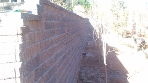 Modular block retaining wall in Marietta