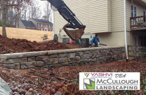 residential retaining wall using redi rock