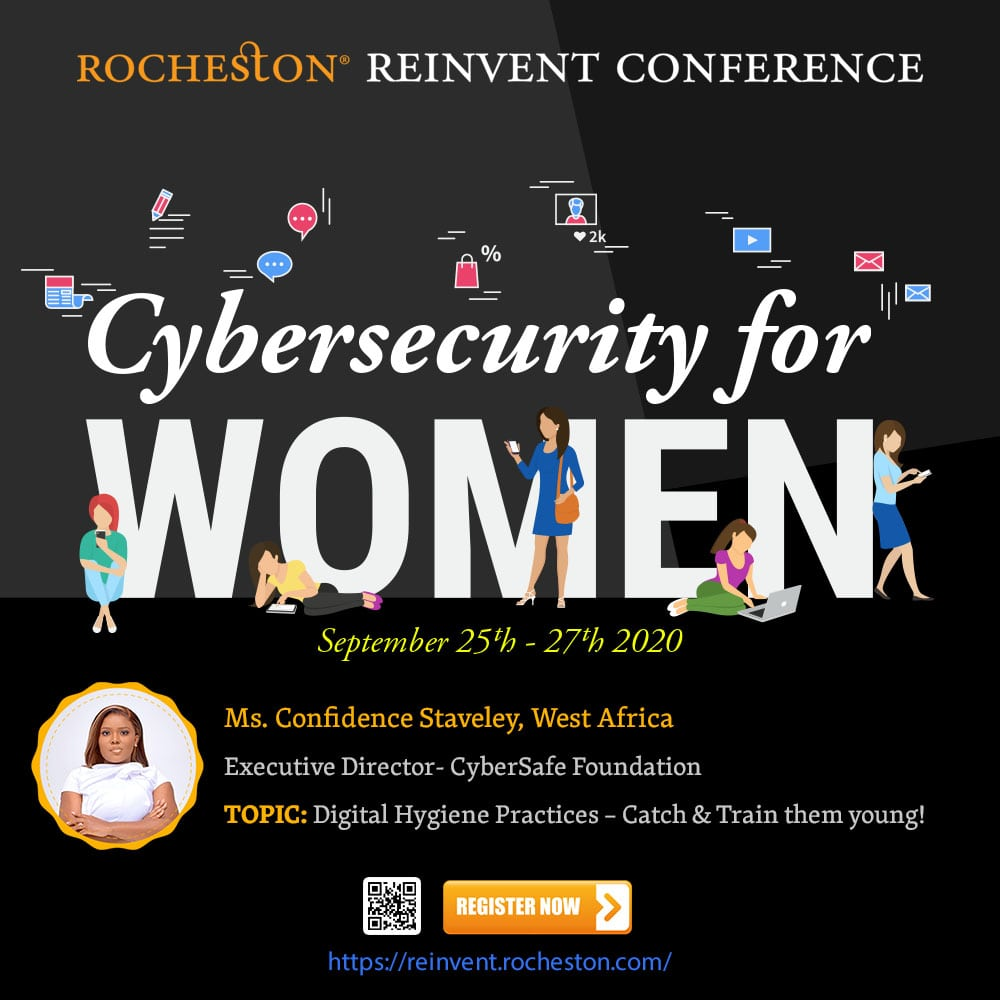 Rocheston Reinvent Conference | Confidence Staveley Talks on Digital Hygiene Practices – Catch & Train them young!