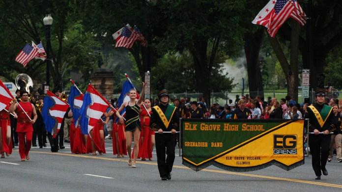 Elk Grove High School marching band in Washington DC July 4 2016
