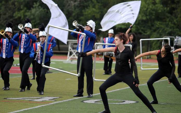 Lakes Community High School marching band September 2016