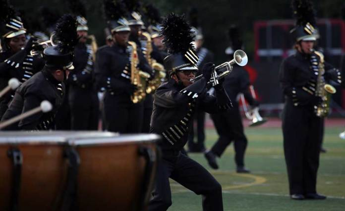 Marian Catholic High School marching band September 2016