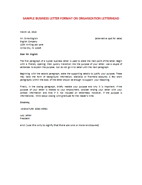 modern business letter format