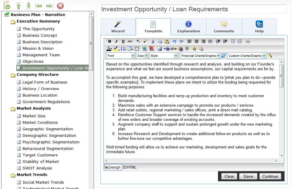 free business plan software mac