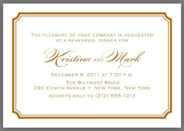 invitation to business dinner