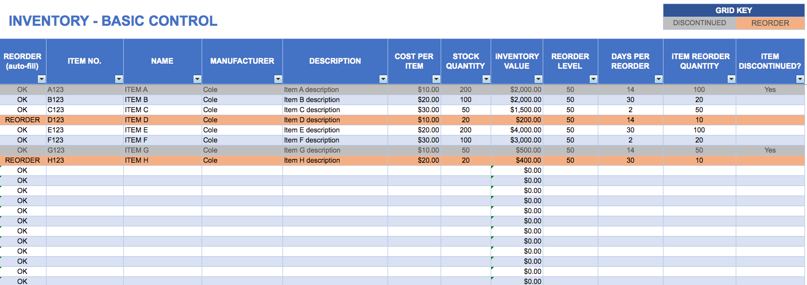 Business Inventory Spreadsheet News
