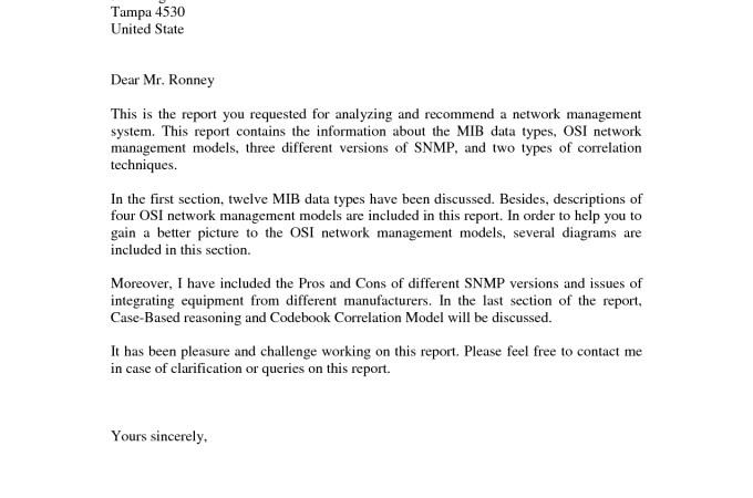 business report cover letter