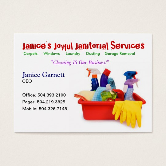 Cleaning Service Template | PosterMyWall |Commercial Cleaning Cards