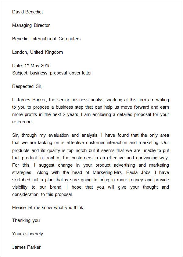 Business proposal letter hamle. Rsd7. Org.