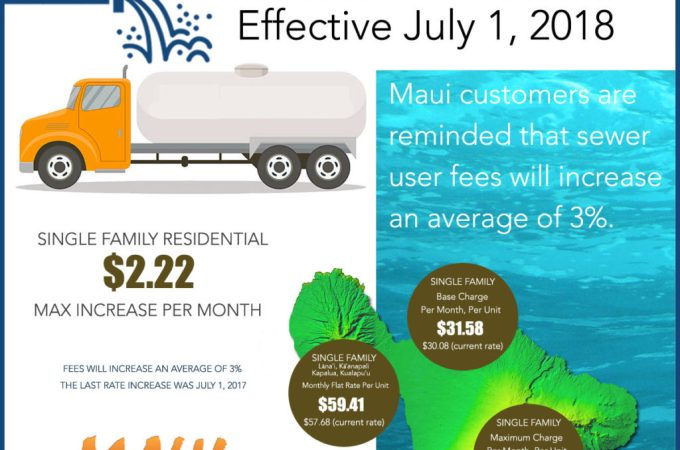 Maui Now : Maui Sewer Rate Increase Effective July 1, 2018