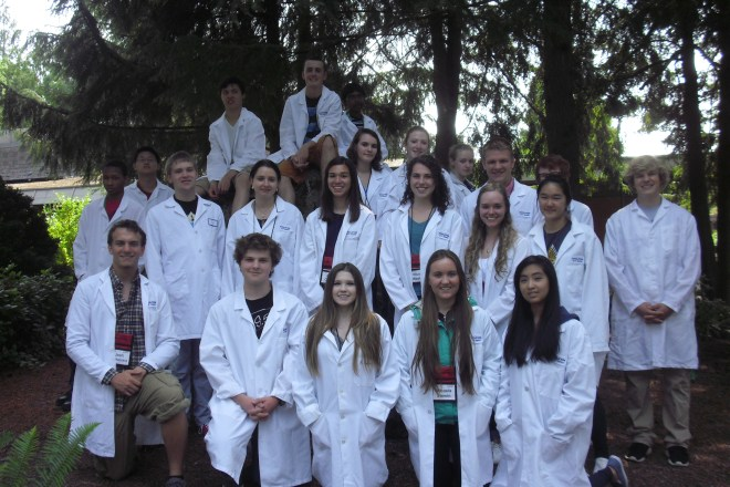 "High school students in Project Biotech's second week-long camp, ""Biotechnology and Human Health."""
