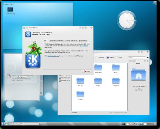 Kubuntu 9.10 Alpha 4 with the KDE 4.3.0 desktop