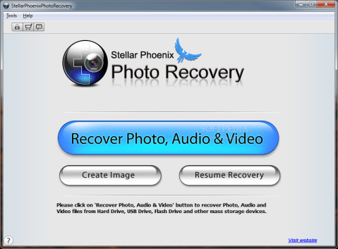 Stellar%20Phoenix%20Photo%20Recovery%20main%20window - How to recover deleted files from Computer or Smartphone