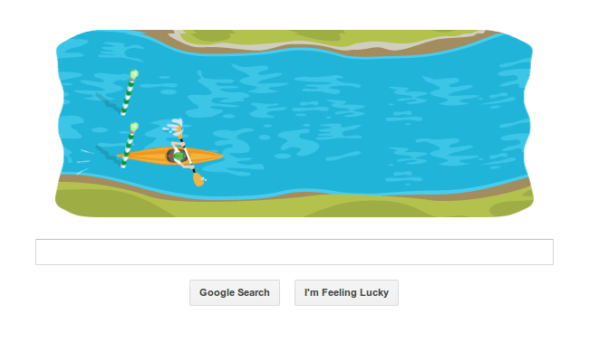 Play The Canoe Slalom Google Doodle Game Softpedia