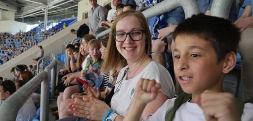 WM-Fieber: SOS-Kinder im Petersburger Stadion