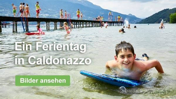 Kinder lieben es, im Caldonazzo-See zu baden.