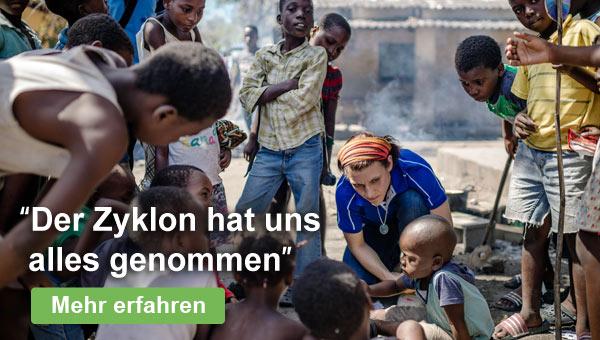 Zyklon in Mosambik: Kinder brauchen Ihre Hilfe - spenden Sie jetzt!