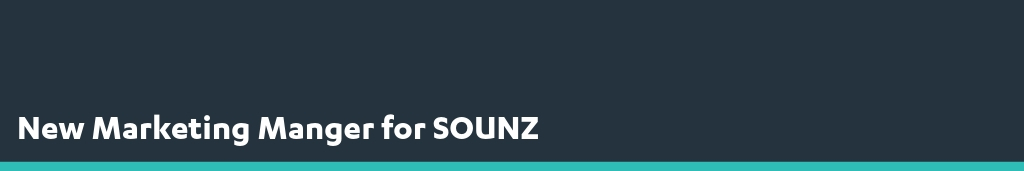 New Marketing Manager for SOUNZ - Media Release