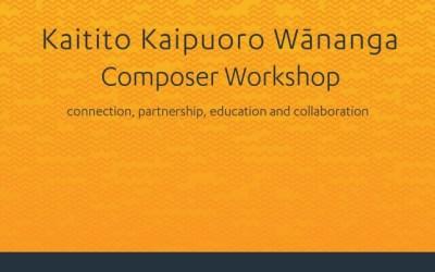 SOUNZ Kaitito Kaipuoro Wānanga | Composer Workshop