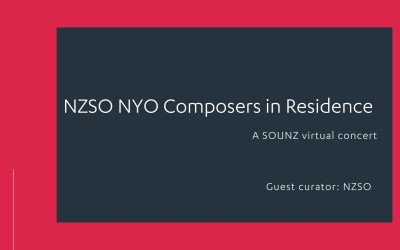 NZSO NYO Composers in Residence