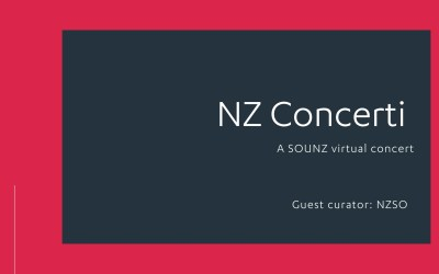 NZ Concerti with the NZSO