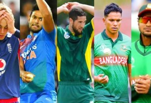 broad-Dube-parnell-saif-shakib : Most runs conceded by a bowler in one over in T20Is