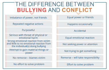Differences_Bullying and Conflict