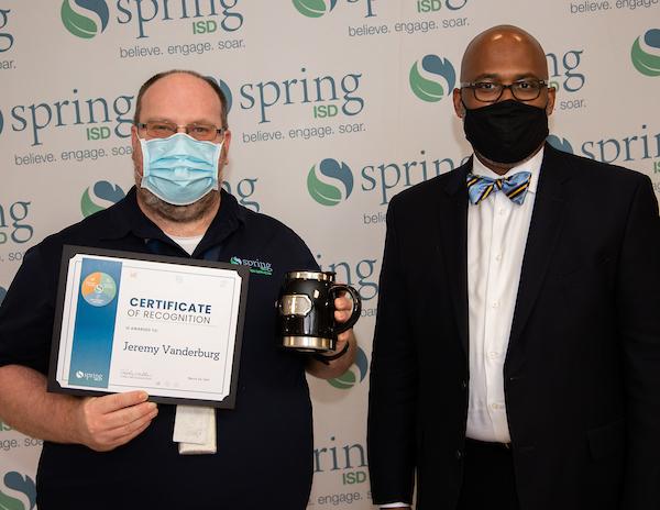 Jeremy 'Chewy' Vanderburg and Dr. Rodney Watson