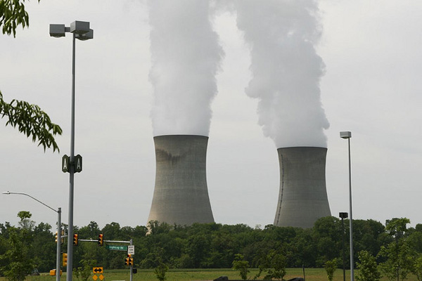 Cooling towers of a nuclear power plant