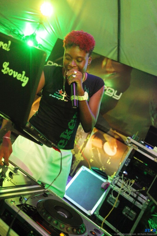 DJ Lovely on the 1's and 2's at a previous edition of Green Synergy.