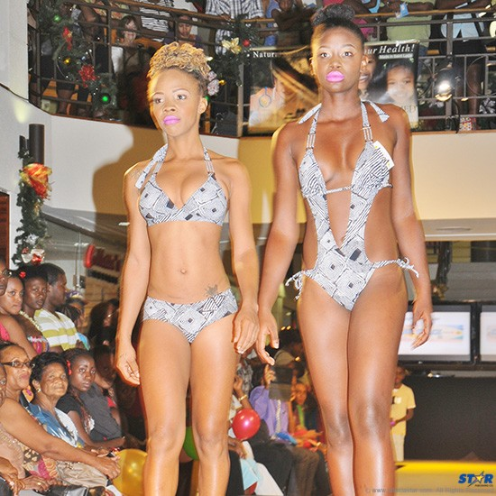 Swimwear of various cuts and colours were on display at JQ Mall fashion show.