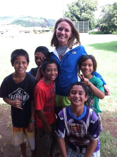Honorable Mention, Intercultural Exchange: Photo by Rebekah Nelson. Hawai'i, COJO 370 J-Term.